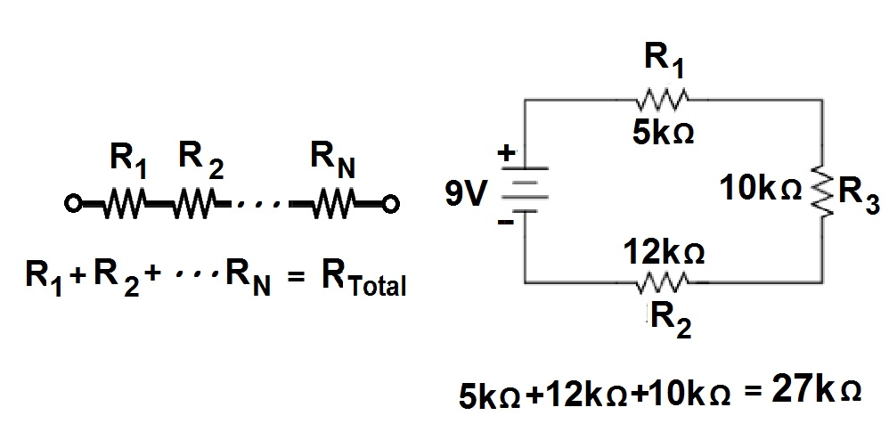 series  parallel  and series  parallel circuit resistance